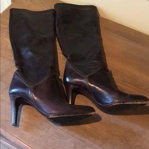 Cole Haan Knee High Dark Brown Heel boots